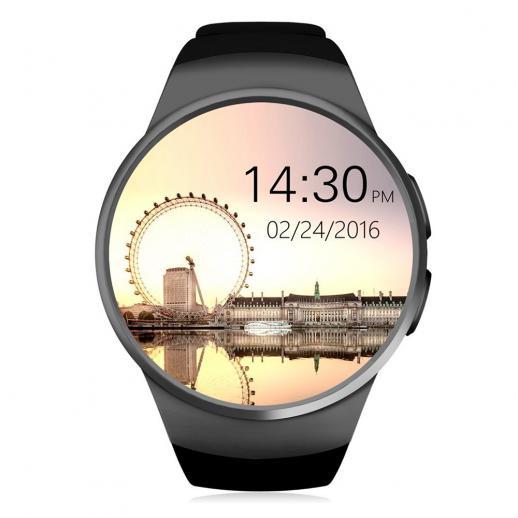 KingWear KW18 Smartwatch Bluetooth 4.0 cardiofrequenzimetro - nero