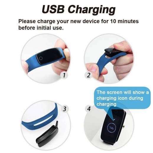 Cardiofrequenzimetro ID107Plus Smart Bracelet Fitness Tracker - Blu