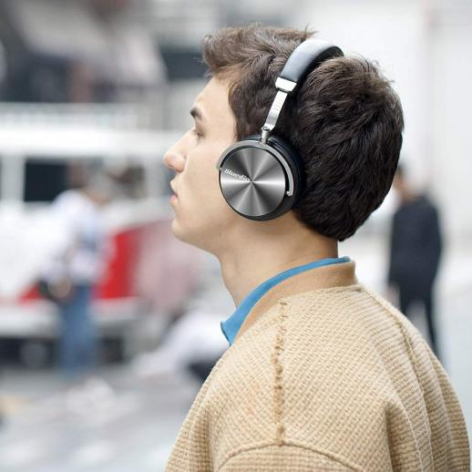 Bluedio T4S Active Noise Cancelling Cuffie Bluetooth - Nero