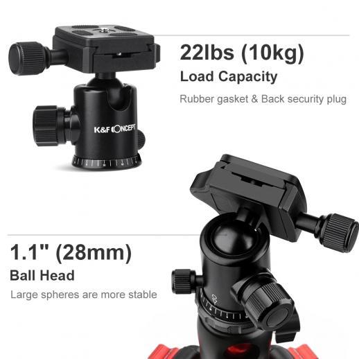 TM2515T Treppiede per fotocamera DSLR compatibile con Canon, Nikon