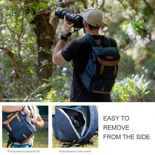 Zaino Fotocamera DSLR Canon Nikon per Fotografia 25 * 16 * 40cm