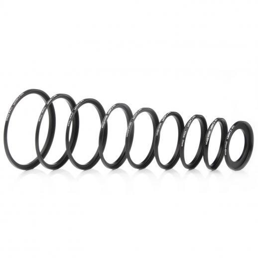 Anello Step-Step con filtro per lenti 18 in 1 Set 9pcs Step Up Ring e 9pcs Step Down Ring