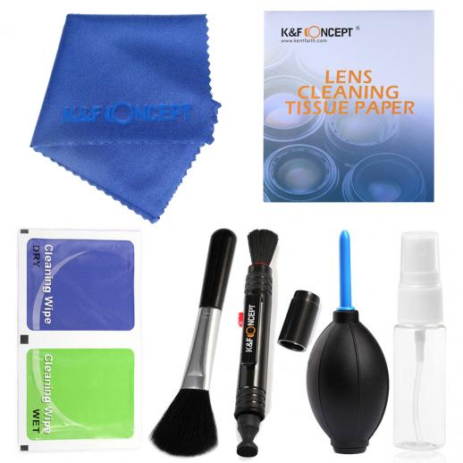 7in1 DSLR Camera Cleaning Kit (Cleaning Pen + Air Blower + Cleaning Tissue Paper + Lens Cleaning Cloth + Spray Bottle + Dry wipes + Brush)